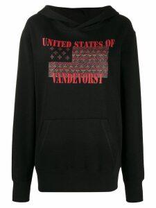 A.F.Vandevorst Justice graphic print hoodie - Black