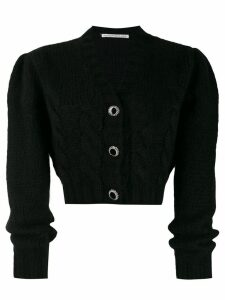 Alessandra Rich cropped knit cardigan - Black