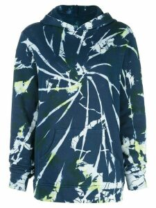 The Elder Statesman oversized tie-dye hoodie - Blue