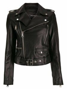 Manokhi fitted biker jacket - Black