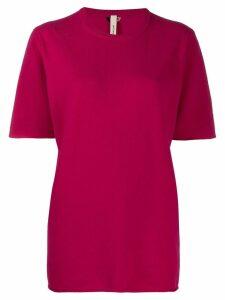 Extreme Cashmere Nº64 classic knit T-shirt - PINK