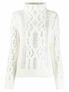 Ermanno Scervino cable knit jumper - White