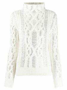 Ermanno Scervino cable knit jumper - White