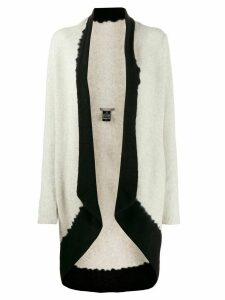 Suzusan cashmere two-tone cardigan - Grey