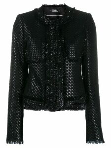 Karl Lagerfeld Karl's Treasure boucle jacket - Black