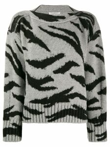 Philosophy Di Lorenzo Serafini animal pattern wool sweater - Grey