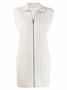 Chloé cable knit sleeveless cardigan - Neutrals