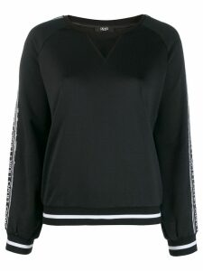 Liu Jo sequin-embellished logo sweatshirt - Black