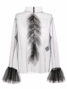 Carmen March sheer ruffled blouse - Black