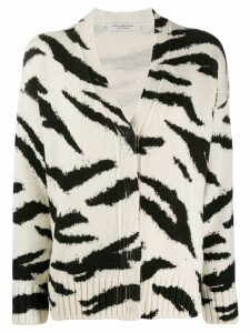 Philosophy Di Lorenzo Serafini animal pattern wool cardigan - White
