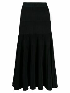 Emporio Armani ribbed midi skirt - Black