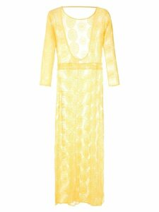 Brigitte sheer maxi dress - Yellow