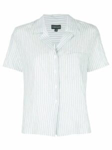 Callipygian short-sleeve striped shirt - Blue