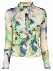Callipygian floral print shirt - Multicolour