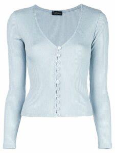 CALLIPYGIAN slim-fit knit cardigan - Blue
