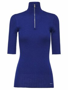 Prada Wool and Silk Sweater - Blue