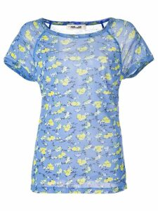 Diane von Furstenberg Elleana mesh T-Shirt - Blue