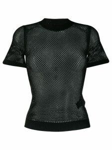 Ermanno Scervino sheer mesh T-shirt - Black