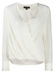 Rag & Bone wrap front blouse - White
