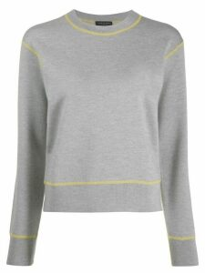 Rag & Bone contrast-trim sweater - Grey