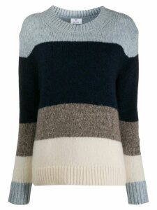 Allude block color sweater - Blue