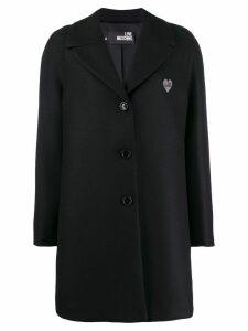 Love Moschino classic single-breasted coat - Black