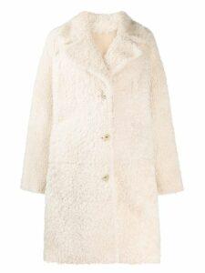 Drome midi fur coat - Neutrals