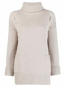 Lorena Antoniazzi roll-neck jumper - Grey
