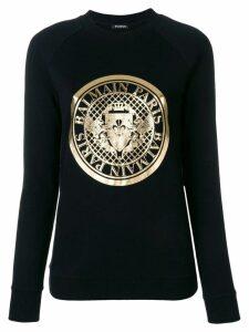 Balmain logo medallion sweatshirt - Black