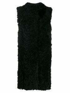 Drome fur waistcoat - Black