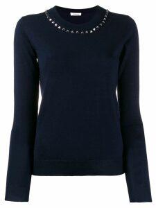 P.A.R.O.S.H. stud embellished jumper - Blue