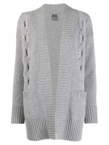 Lorena Antoniazzi short knitted cardigan - Grey