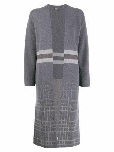 Lorena Antoniazzi knitted long cardigan - Grey