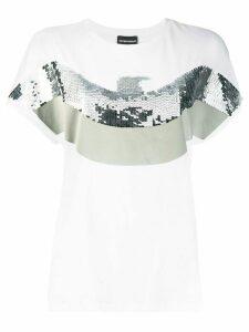 Ea7 Emporio Armani sequin logo T-shirt - White