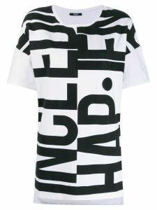 LIU JO logo print T-shirt - White
