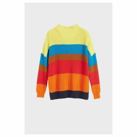 Chinti & Parker Rainbow Riviera Stripe Chunky Knit Sweater