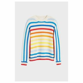Chinti & Parker Rainbow Breton Stripe Chunky Knit Sweater