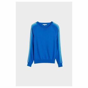Chinti & Parker Royal Blue Seaside Stripe Sweater