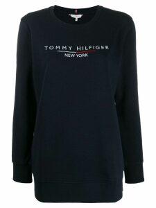 Tommy Hilfiger logo print sweatshirt - Blue
