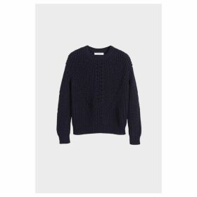Chinti & Parker Navy Le Soir Crew Neck Sweater