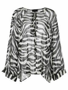 Nili Lotan zebra print top - Black
