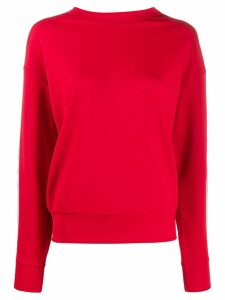 Iceberg logo crew neck sweater - Red