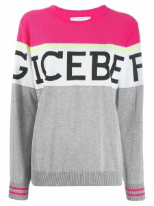 Iceberg knit logo sweater - PINK