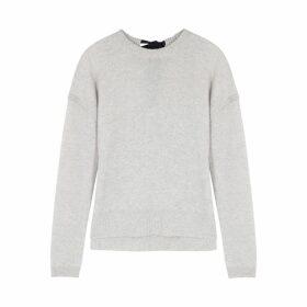 Duffy Grey Fine-knit Mélange Cashmere Jumper