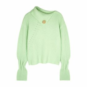 JW Anderson Light Green Chunky-knit Wool-blend Jumper
