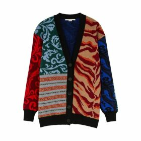 Stella McCartney Patchwork Intarsia Wool Cardigan