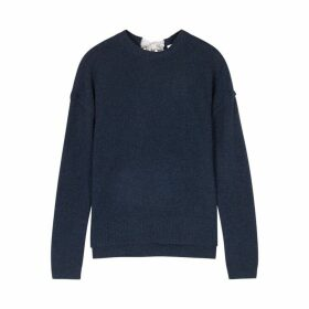 Duffy Navy Fine-knit Cashmere Jumper