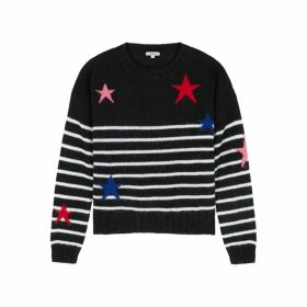 Rails Perci Black Striped Knitted Wool-blend Jumper