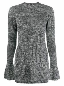 Victoria Victoria Beckham two tone knit jumper - Grey