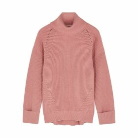 Joie Aleck Pink Ribbed Cotton-blend Jumper